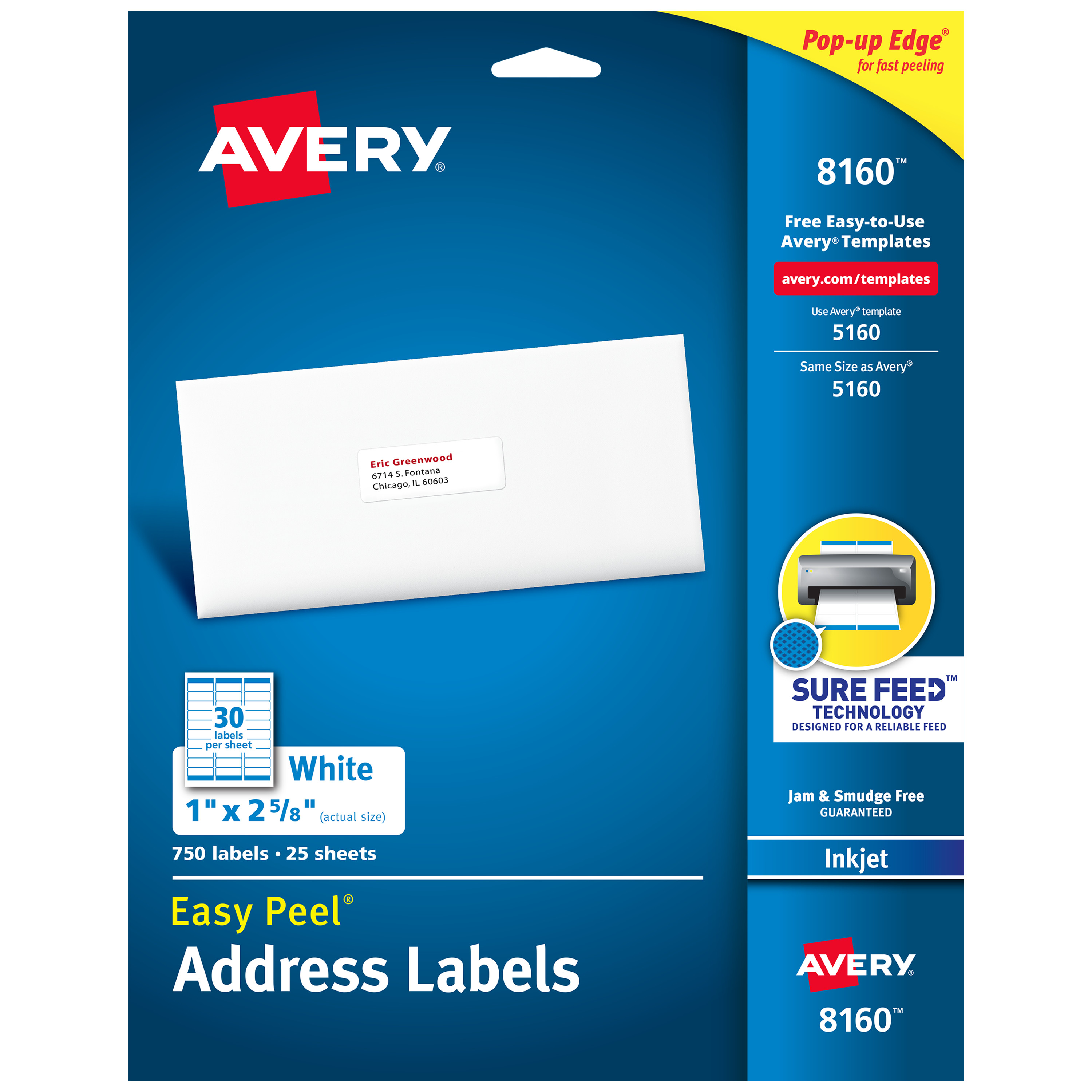 avery easy peel address labels sure feed technology permanent