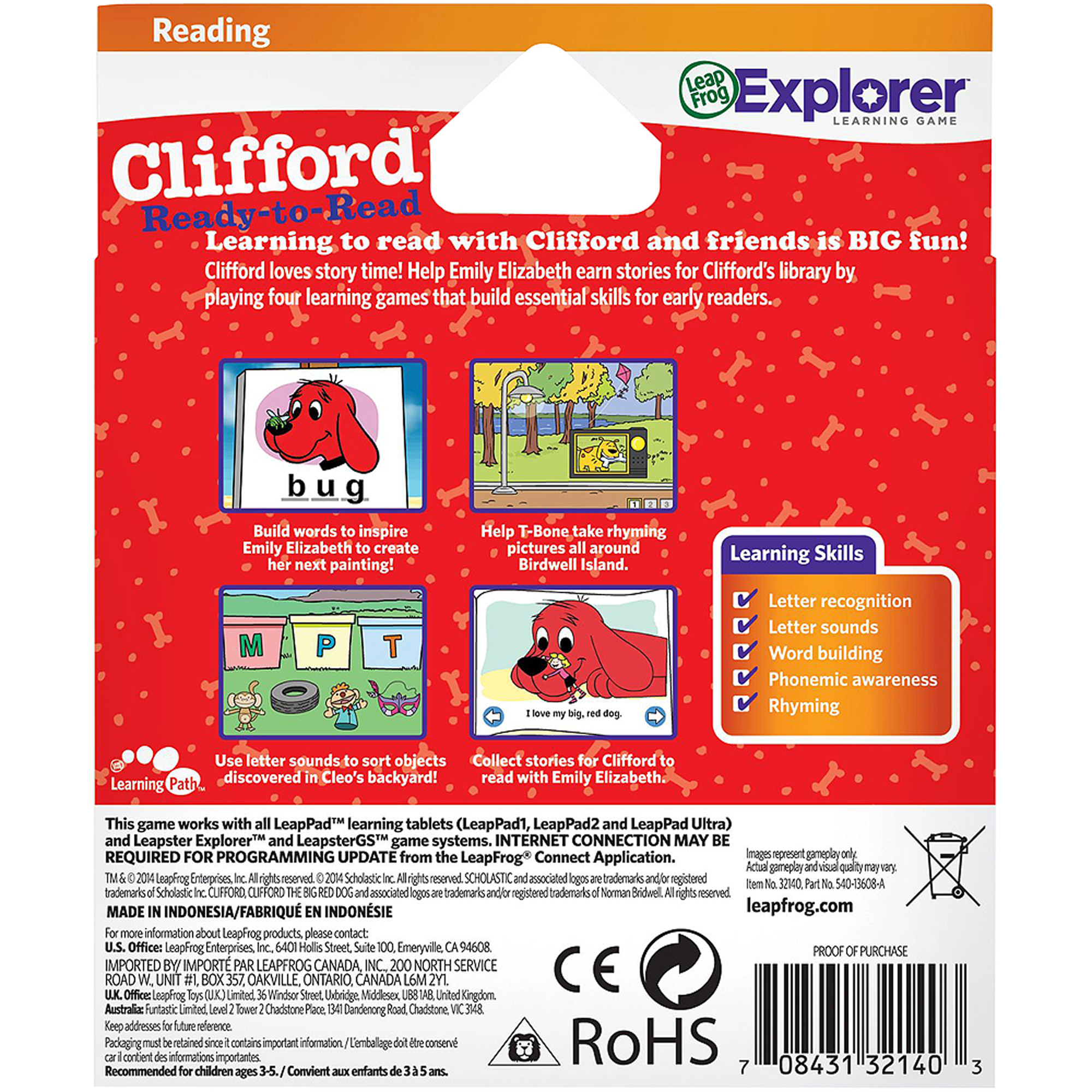 leapfrog learning game scholastic clifford for leappad tablets
