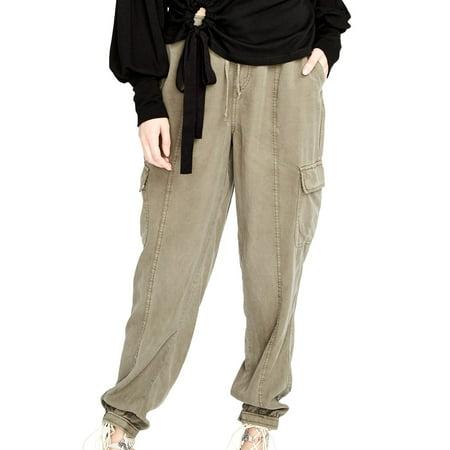 Rachel Roy Womens Drawstring Casual Cargo Pants Womens Drawstring Hem Cargos