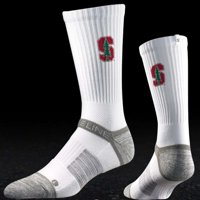 Stanford Cardinal Strideline Strapped Fit 2.0 Socks - White