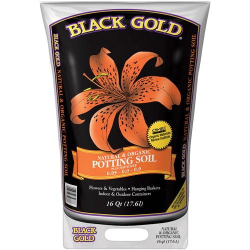 Black Gold 1402040 16 QT U 16 Quart All Organic Potting Soil