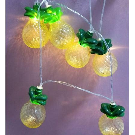 - Battery-Operated Pineapple String Light (10 LED light, Runs on 2 AA batteries). ;Total Length: 68