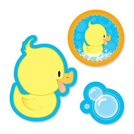 Ducky Duck - Shaped Party DIY Cut-Outs - 24 Count - Rubber Duck Party Supplies