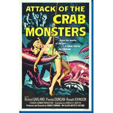 Attack Of Crab Monsters Movie Poster - Walmart.com
