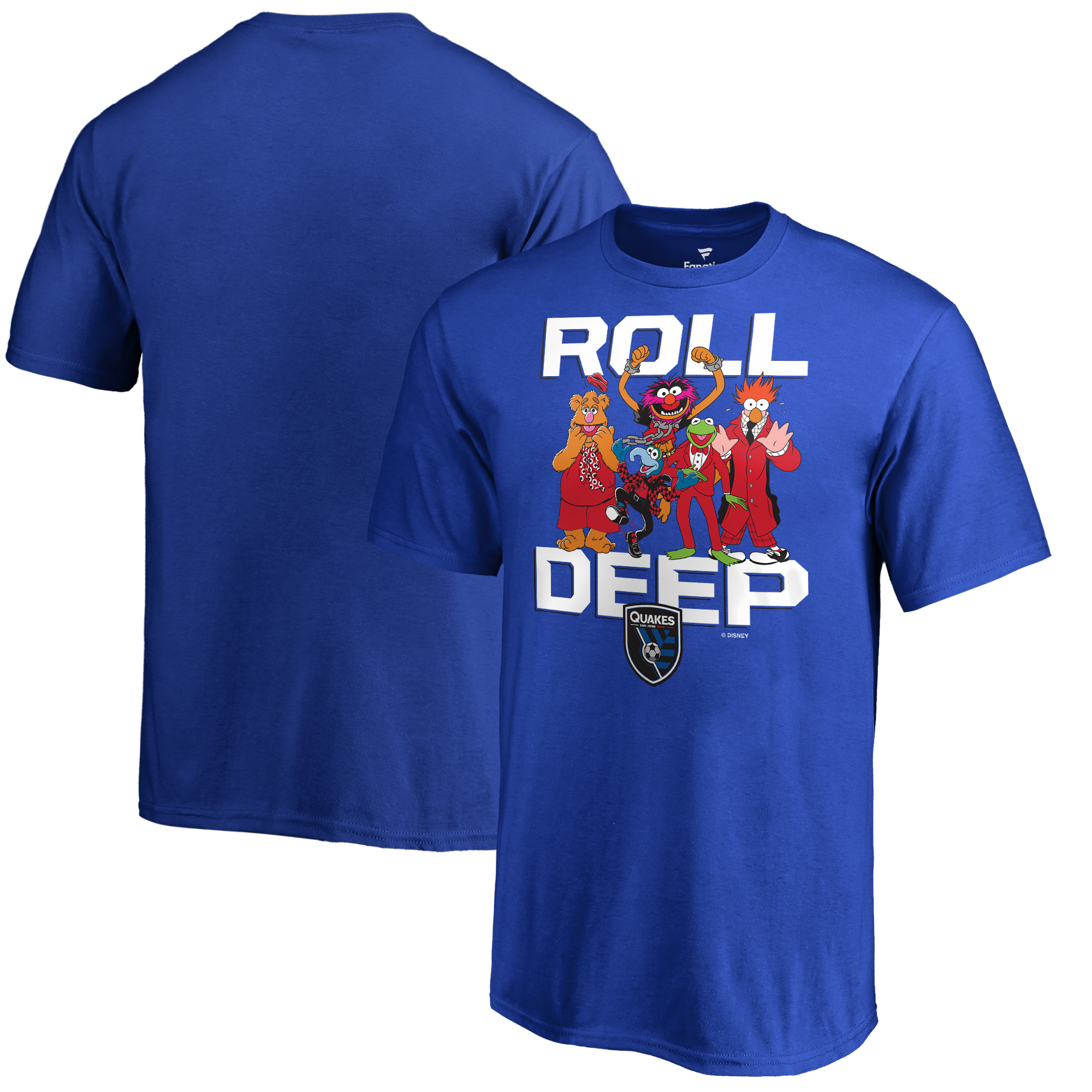 San Jose Earthquakes Fanatics Branded Youth Disney Roll Deep Muppets T-Shirt - Blue