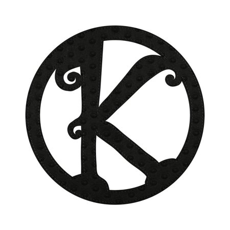 Evergreen Black Embossed Outdoor Safe Felt Monogram K Letter Insert, Keep your front door seasonal and stylish with this monogram letter for your front door.., By Evergreen Flag Garden from USA