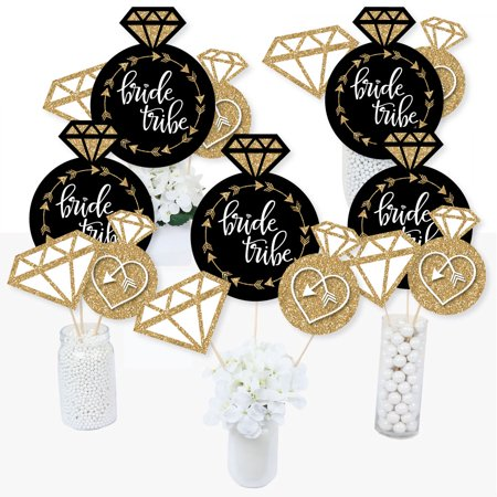 Bride Tribe - Bridal Shower or Bachelorette Party Centerpiece Sticks - Table Toppers - Set of 15](Bachelorette Centerpieces)