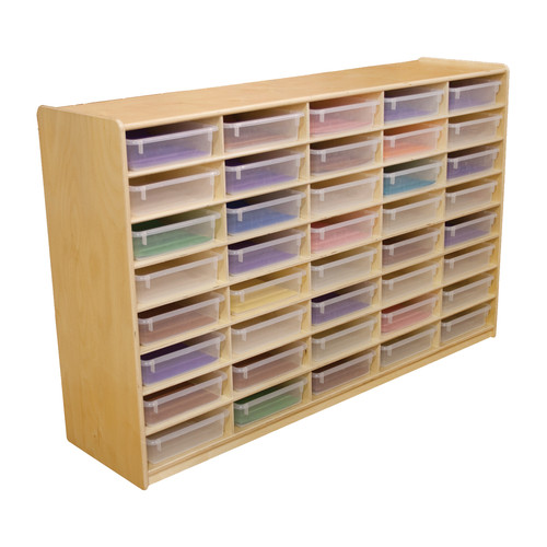 Wood Designs 40 Compartment Cubby