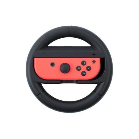 Nintendo Switch Wheel by Insten Joy-Con Protective Steering Wheel Handle Grip [Extra Protection] for Nintendo Switch Joy Con Left/Right Controller Racing Game Accessories - Black - image 10 de 10