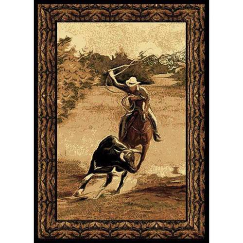 "United Weavers Elements Cowboy Up Woven Polypropylene Area Rug, Multi, 5'3"" x 7'2"""