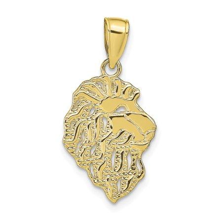 10k Yellow Gold Lion Head Pendant Fine Jewelry Ideal Gifts Lion Head Golf Club