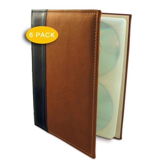HandStands 02033P6 Brown CD-DVD-Blu-Ray Binder- 6 Pack