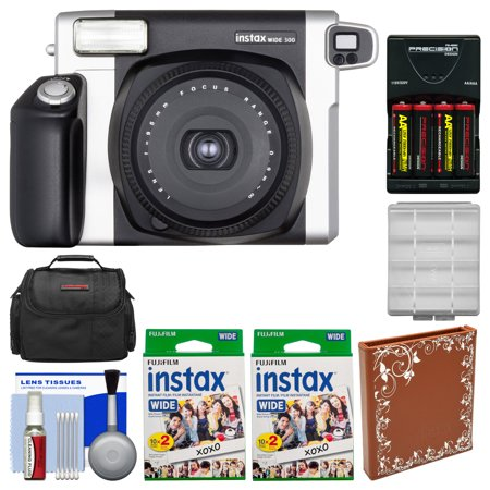 Fujifilm Instax Wide 300 Instant Film Camera With 40 Wide Twin