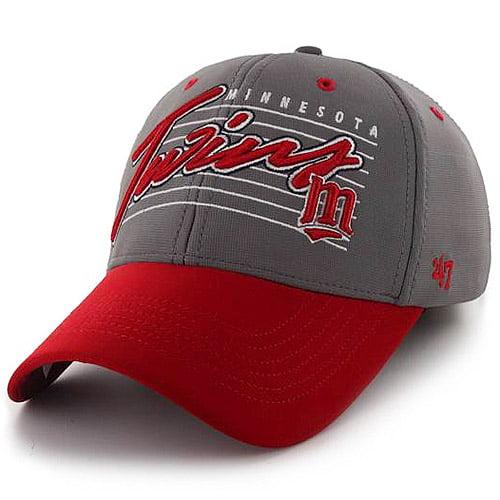 Minnesota Twins '47 Fission 2-Tone Flex Hat - Gray/Red - OSFA