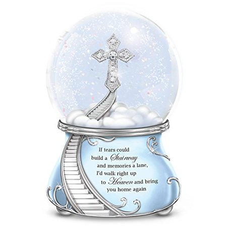 Musical Glitter Globe with a Swarovski Crystal and Faux Gems Cross and Poem Card by The Bradford Exchange ()