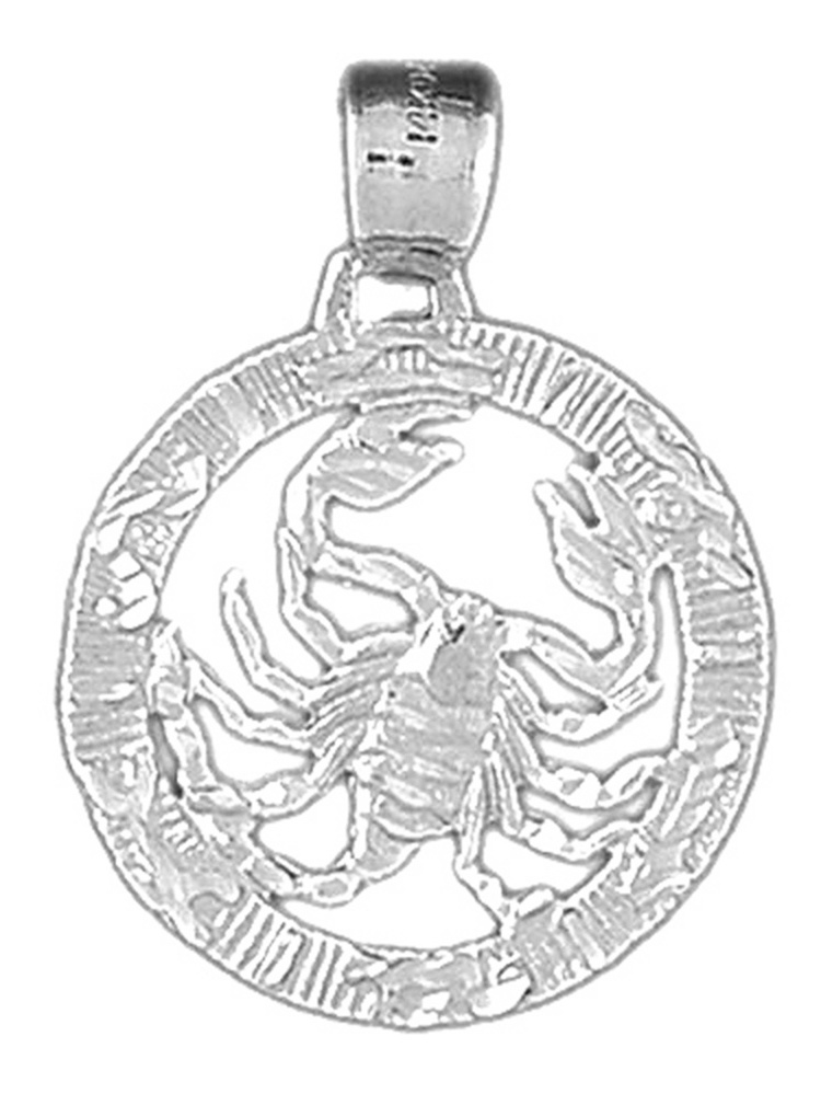 JewelsObsession Sterling Silver 19mm Zodiac Taurus Charm w//Lobster Clasp