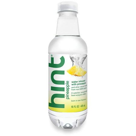 (24 Bottles) Hint Water, Pineapple, 16 Fl Oz - Wholesale Bottled Water