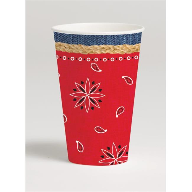 Hoffmaster Group 377492 12 oz Bandanarama Paper Hot & Cold Cups - 8 per Case - Case of 12