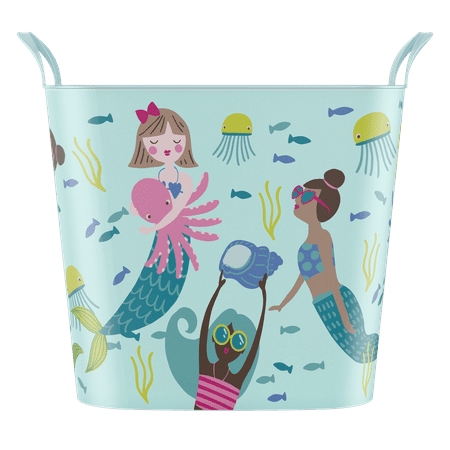 "Your Zone 25-Liter Flexible Storage Tub - ""Mermaid"". Flexible & Extremely Strong Tote"