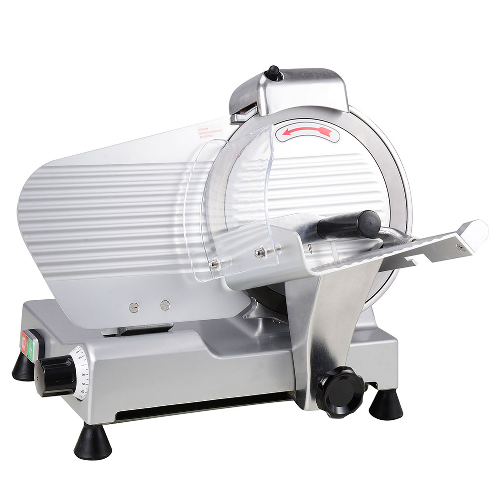 "Yescom 10"" Electric Slicer 240W 530RPM Commercial Meat Slicer for Cheese Food Deli Stainless Steel Cutter"
