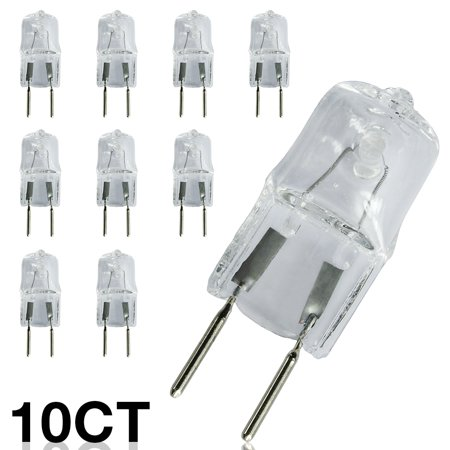 eTopLighting [10-Pack] 20W 120 Volt G8 Base Bi-Pin JCD Type Halogen Light Bulb, 8mm Two Pin Separation, 2,000 Life Hours, Value, Pack , WMLS2528 120 Volt Jcd Gy8 Base