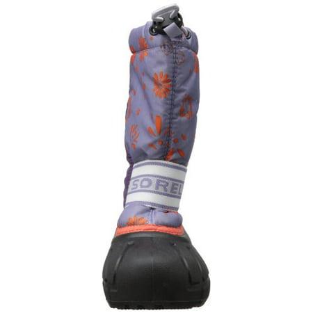 SOREL Youth Cub Graphic 13 Winter Boot, Cool Grey/Early Dawn, 6 M US Big Kid