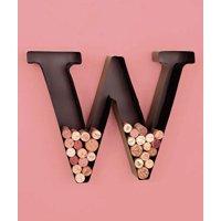 "Vintage Monogram Metal Marquee Letter ""W"""