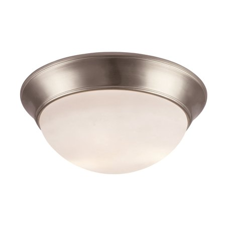 Trans Globe Lighting Brushed Nickel Flushmount w/ 3 Light 23W - PL-57705 BN