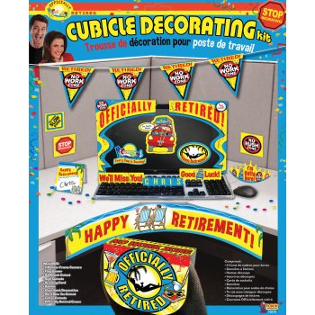 Officially Retired Cubicle / Desk Decorating Kit, All in one kit to decorate the retirees desk or cubicle By Forum Novelties