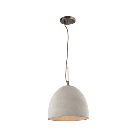- Pendants 1 Light With Black Nickel Finish Natural Concrete Medium Base 12 inches 60 Watts - World of Lamp