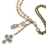 Sweet Romance  French Madonna Necklace