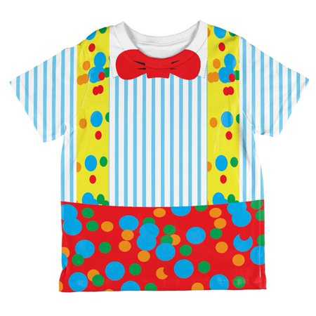 Halloween Clown Costume All Over Toddler T Shirt](Halloween Drawings For Toddlers)