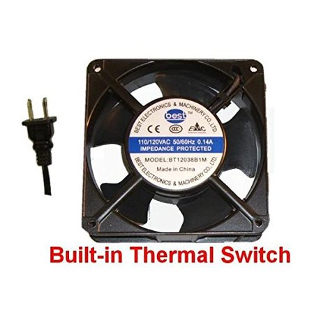 best electronics 120x120x38mm ac fan with thermal switch bt12038b1m & 36