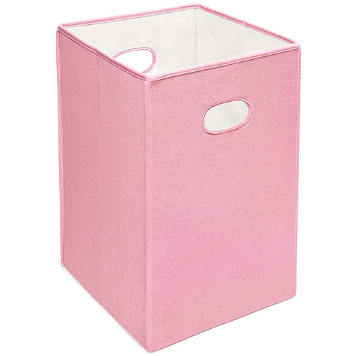Badger Basket Folding Hamper, Pink by Badger Basket Company