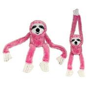 "Whimsy & Charm Valentine's Day Sweatheart Love 27"" Sloth Stuffed Animal Plush Toy Soft & Fluffy - Pink"