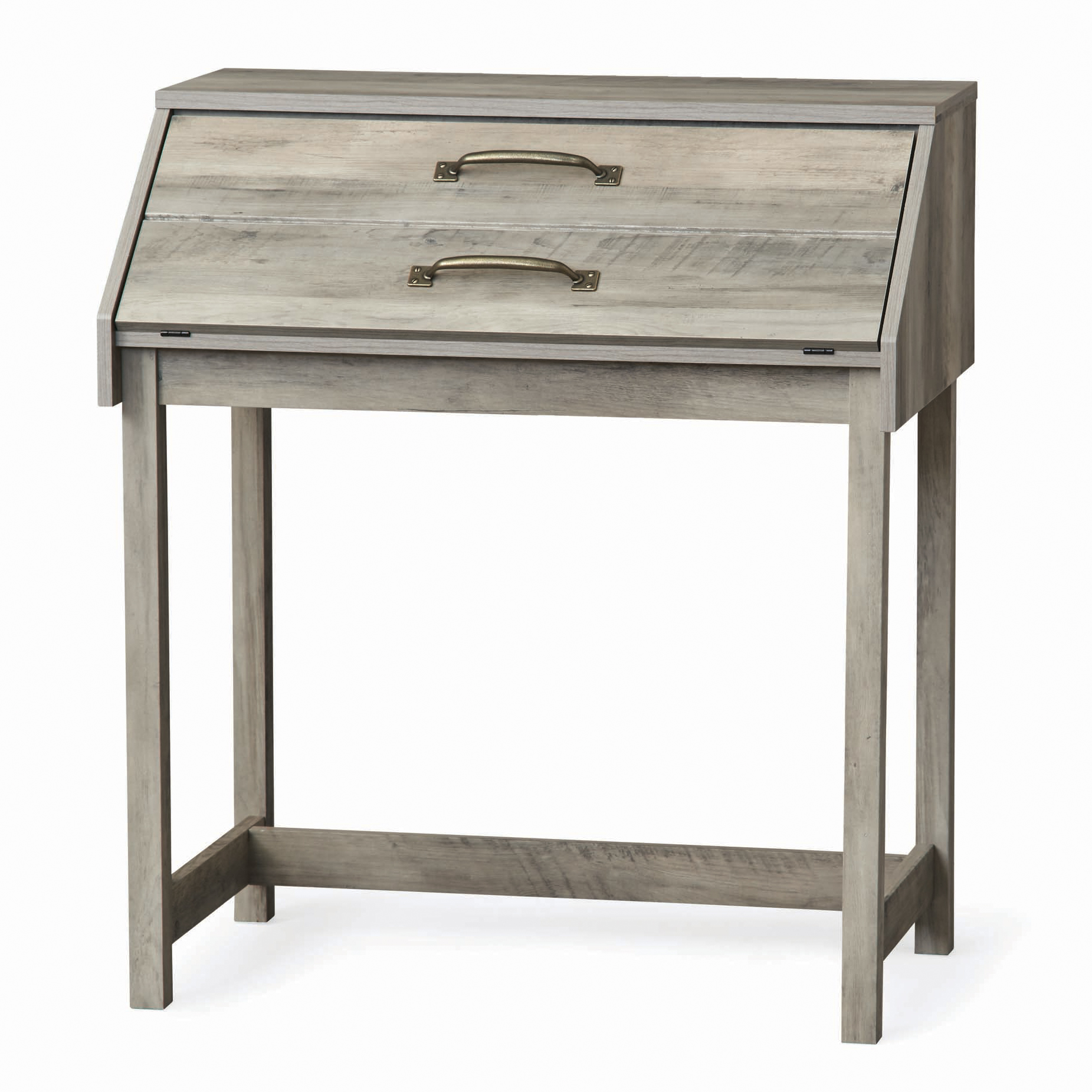 Better Homes And Gardens Modern Farmhouse Secretary Desk, Rustic Gray Finish