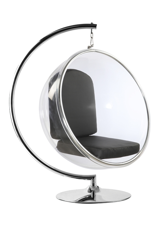 Merveilleux Fine Mod Imports Bubble Hanging Chair With Black Cushion, Stand Not Included