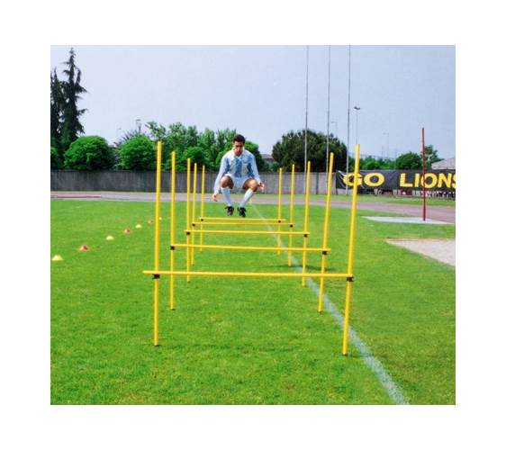 Outdoor Adjustable Agility Hurdles w Poles & Clips Set by Goal Sporting Goods