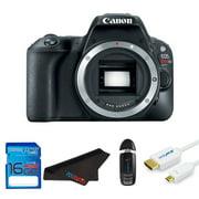 Canon EOS Rebel 200D/SL2 DSLR Camera (Body) + Pixi Starter Bundle Kit