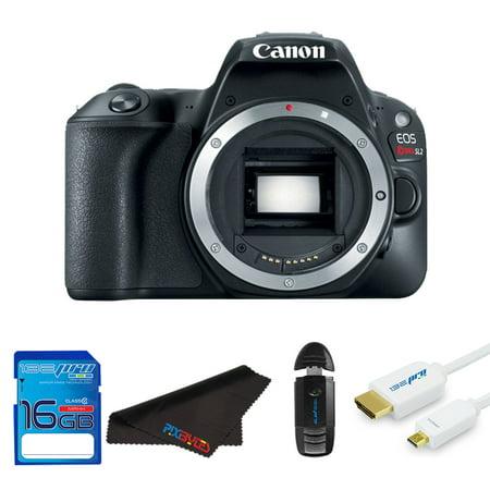 Dslr Camera Starter Kit (Canon EOS Rebel 200D/SL2 DSLR Camera (Body) + Pixi Starter Bundle Kit)