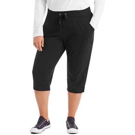 Just My Size Women's Plus Size French Terry Pocket Capri (6 Pocket Capris)