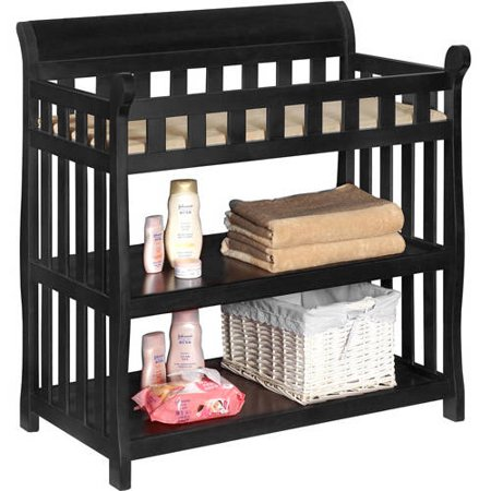 Delta Children Eclipse Changing Table with Pad, Black