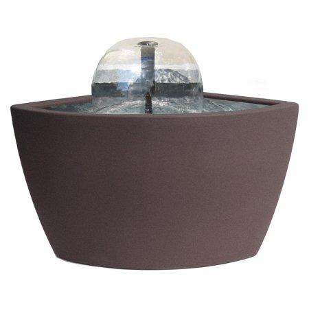 Algreen Hampton 35 Gallon Contemporary Brownstone Water Feature and Pond