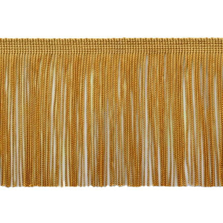 4 In Thermostatic Trim (4 Inch Chainette Fringe Trim, Style# CF04 Color: Gold -C4, Sold By the Yard )
