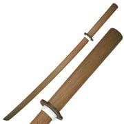 "SAMURAI WOODEN TRAINING SWORD 40"" NATURAL RED OAK WOOD BOKKEN (DAITO)"