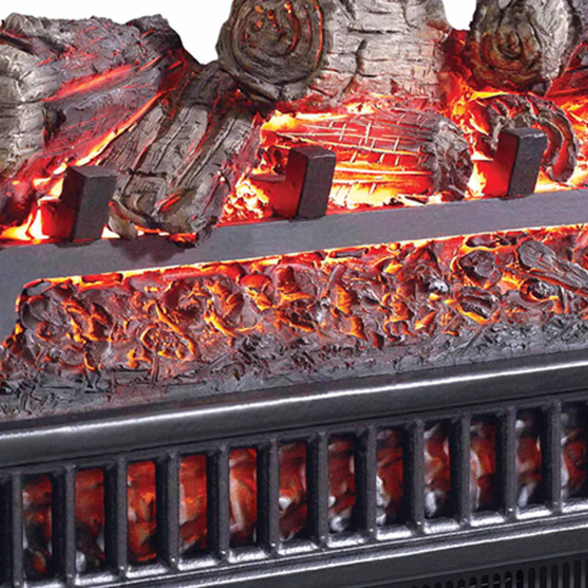 Electric Log With Heater Walmartcom - Electric logs for fireplace