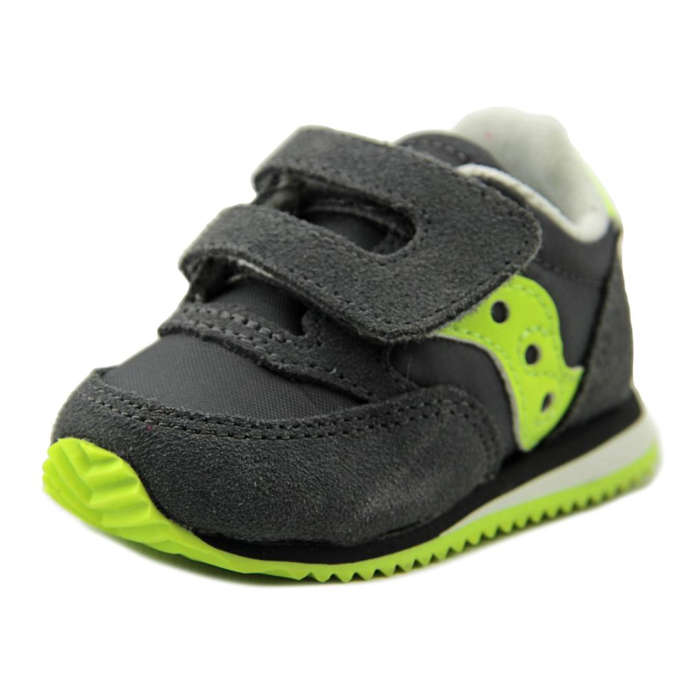 Saucony Baby Jazz  Infant  Round Toe Suede Gray Walking Shoe
