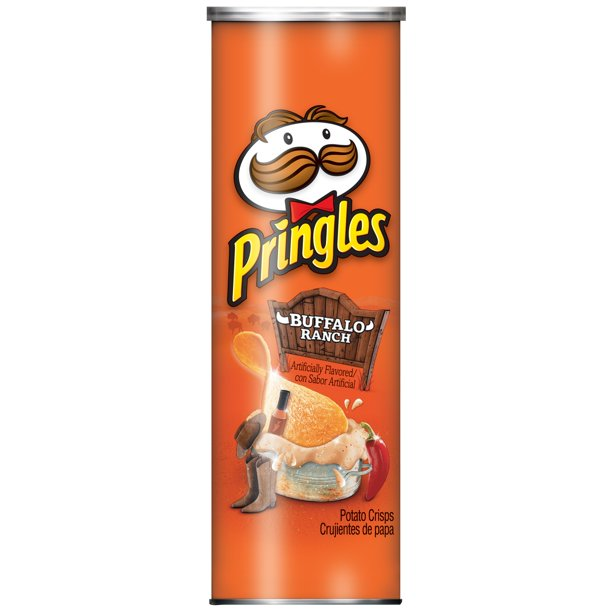Pringles, Potato Crisps Chips, Buffalo Ranch, 5.5 Oz