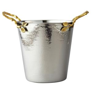"Golden Vine Hmmrd Wine Bucket, 11.5""H"