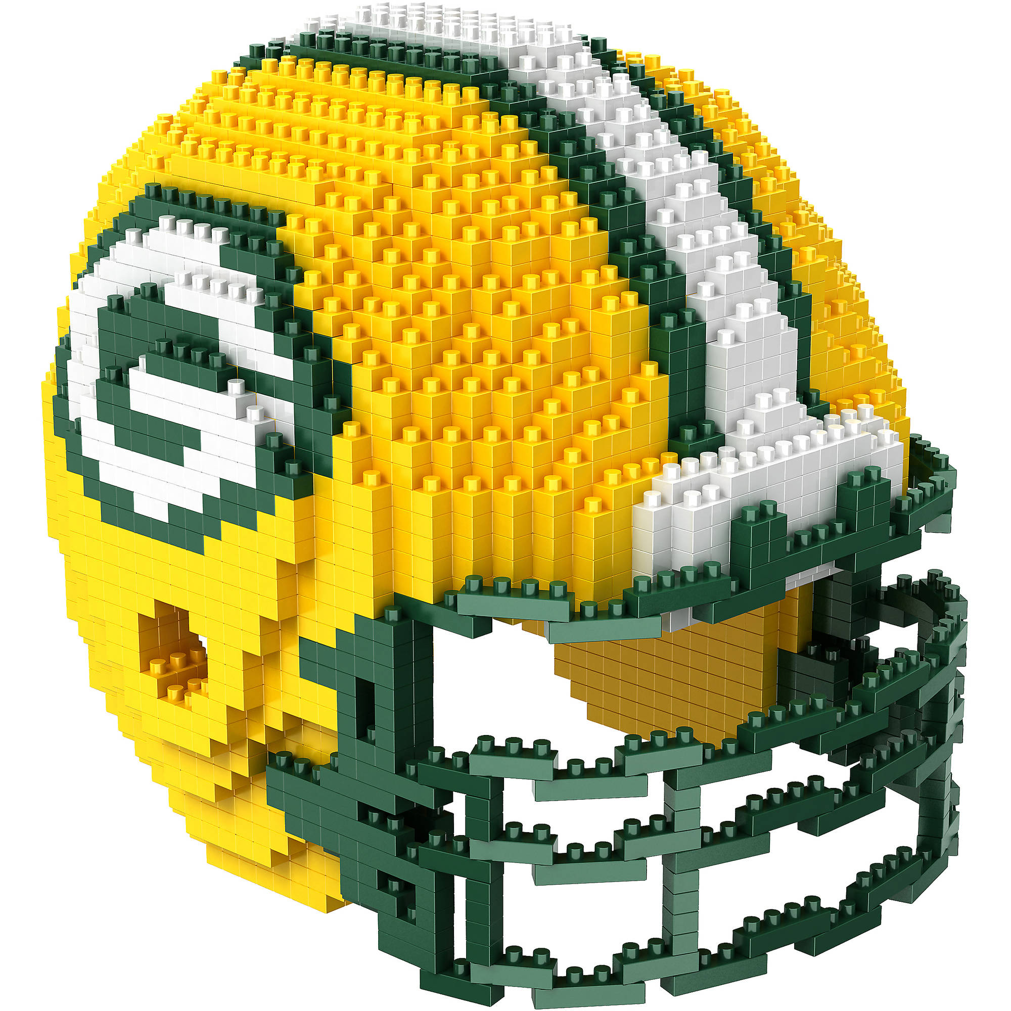 Forever Collectibles 3D BRXLZ Mini Helmet, Green Bay Packers